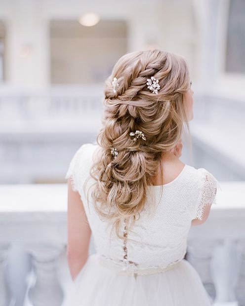 Romantic Wedding Hairstyle for Long Hair