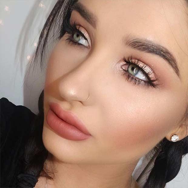 Gold Everyday Makeup Look