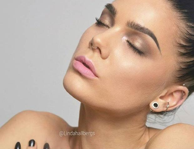 Neutral Eyes and Pink Lips Everyday Makeup