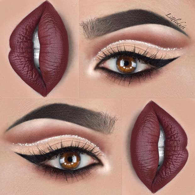 Cut Crease Makeup Idea for Christmas