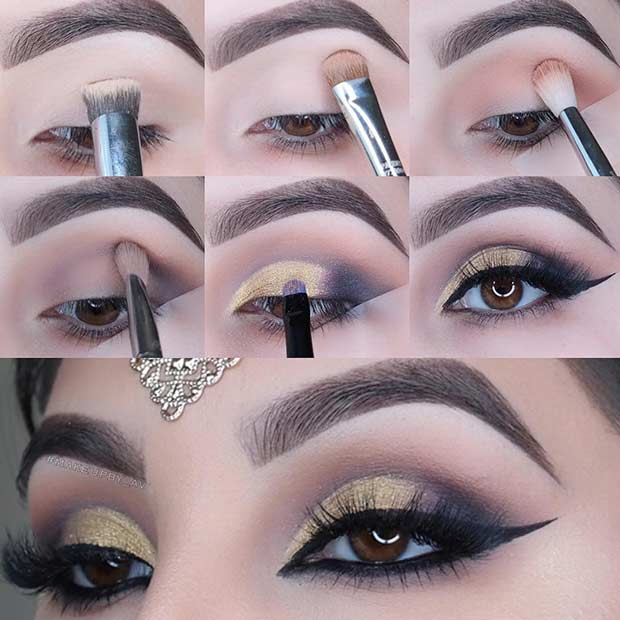 Step by Step Makeup Tutorial for New Years Eve