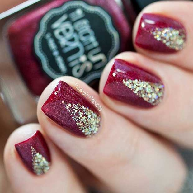 Xmas Nail Colours: 69 Easy Winter And Christmas Nail Ideas