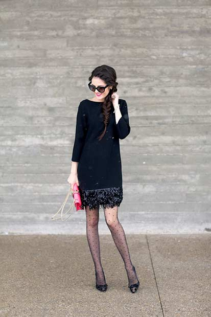 Little Black Dress NYE Outfit Idea