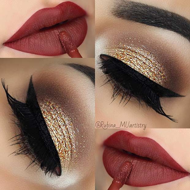 Simple Festive Makeup Idea