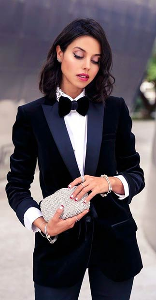 Womens Suit Christmas Outfit Idea