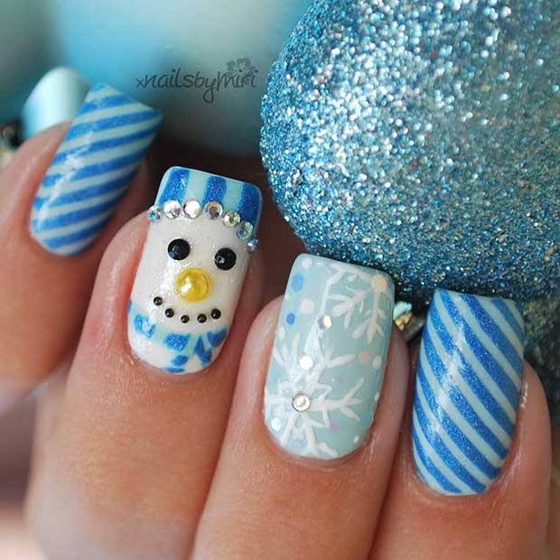 Lou Is Perfectly Polished Christmas Nails Christmas Trees: 69 Easy Winter And Christmas Nail Ideas