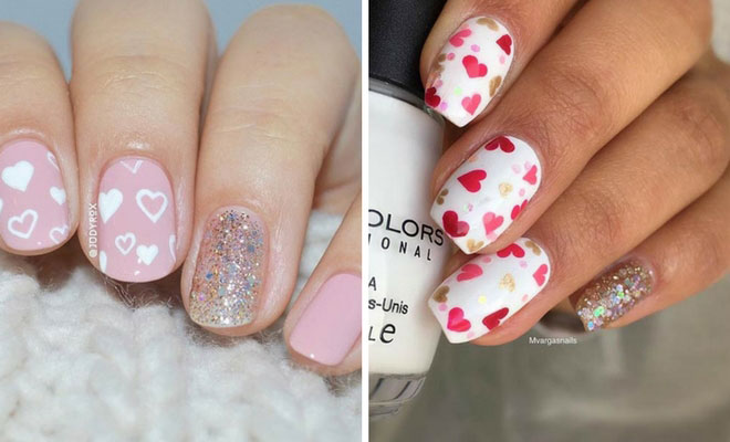 27 pretty nail art designs for valentines day stayglam - Valentines Nail