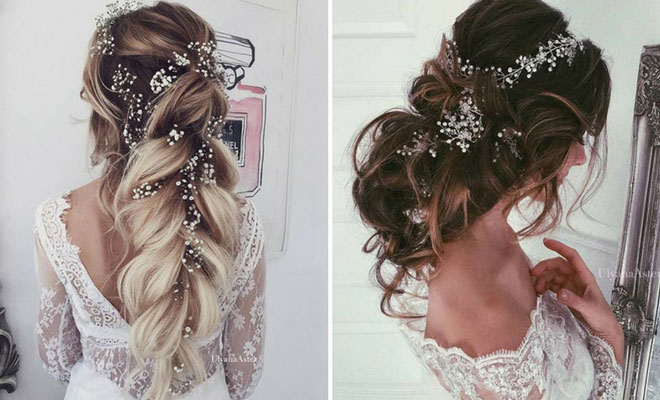 23 romantic wedding hairstyles for long hair stayglam. Black Bedroom Furniture Sets. Home Design Ideas