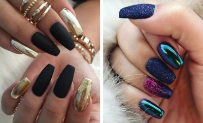 Trendy Metallic Nail Art Designs