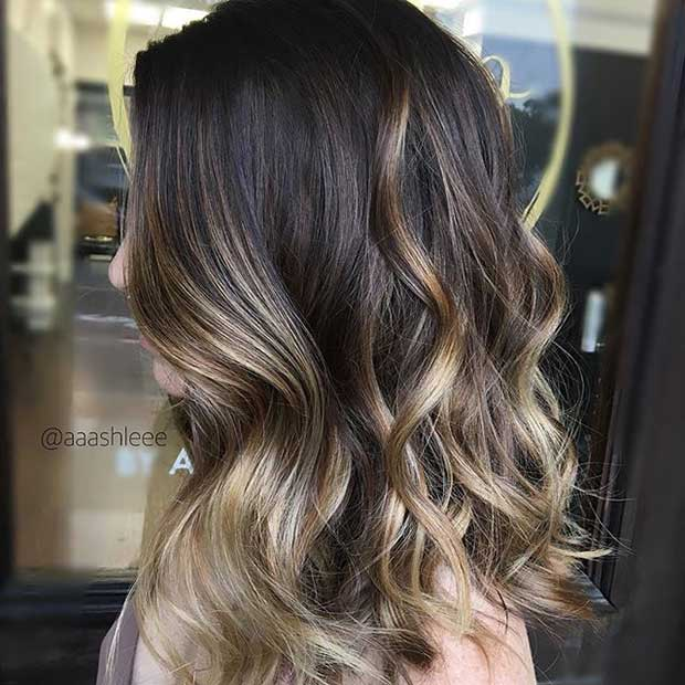 27 stunning blonde highlights for dark hair stayglam blonde balayage highlights for dark hair pmusecretfo Gallery
