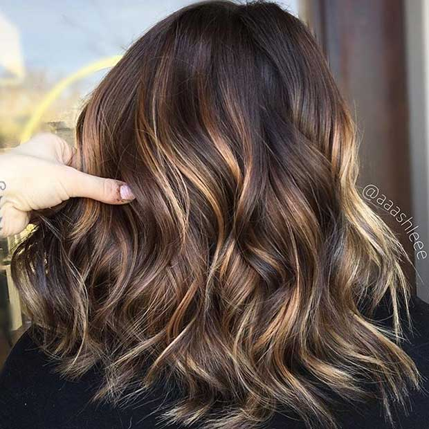 Subtle Blonde Highlights for Dark Hair