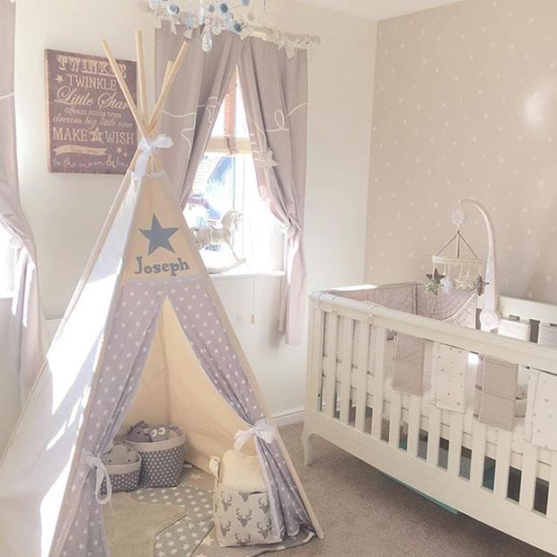 Grey Nursery Idea For A Boy