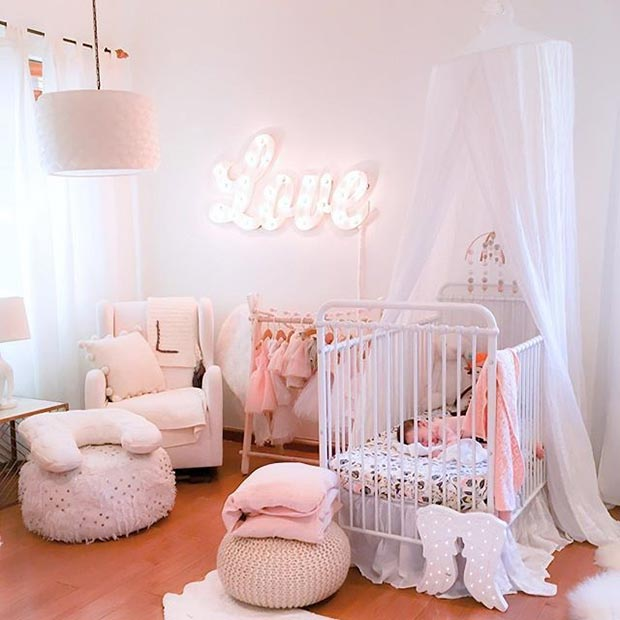 Princess Nursery Idea for a Baby Girl