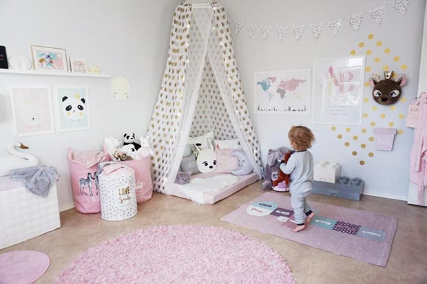 Girly Playroom Idea for Toddlers