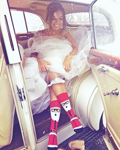 Cool and Warm Winter Wedding Bride