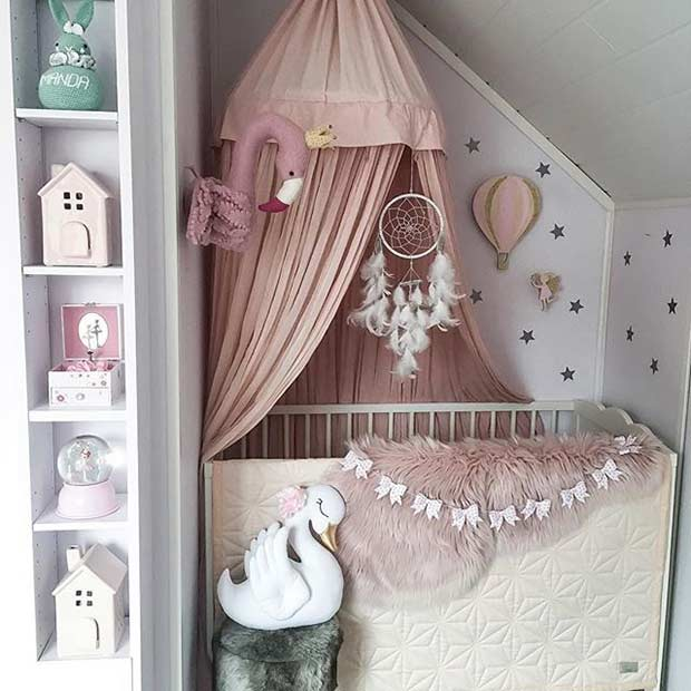 Small Nursery Idea for a Baby Girl