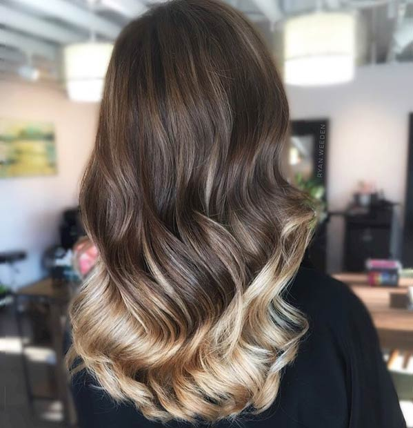 Blonde Hair Painting Highlights on Dark Hair