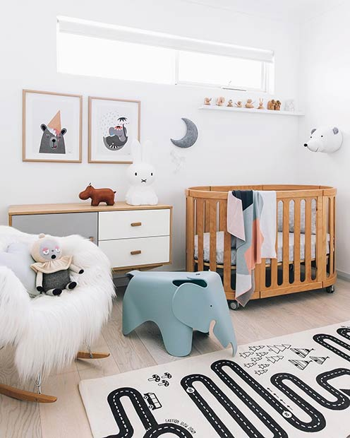 Simple Animal Nursery Idea for a Baby Boy
