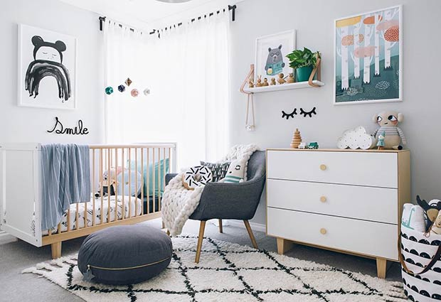 Gender Neutral Modern Nursery Idea