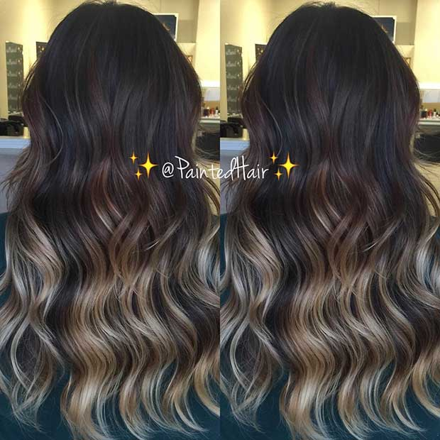 Sandy Blonde Highlights for Dark Brown Hair