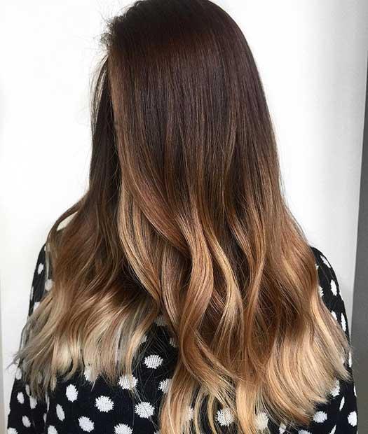 Soft Blonde Lowlights on Dark Hair