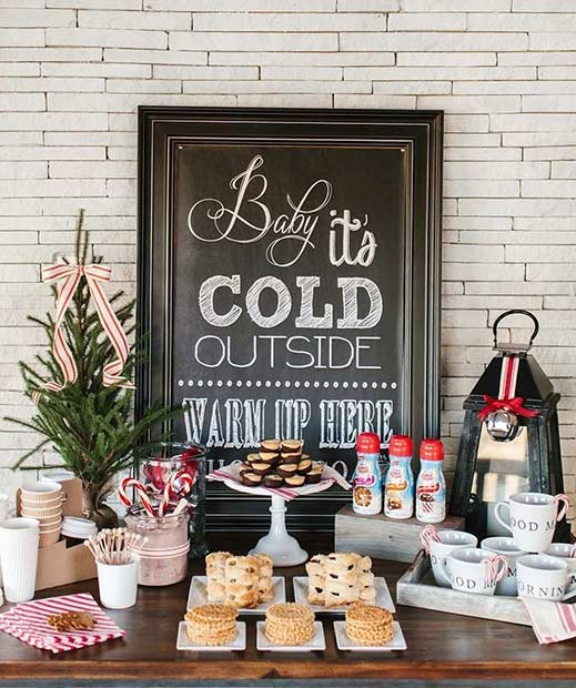 Winter Wedding Baby It's Cold Outside Sign
