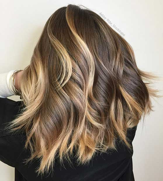 Blonde Highlights on Dark Short Hair