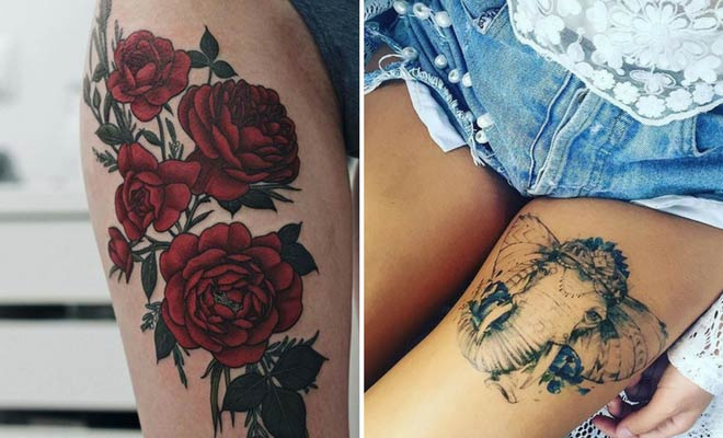 45 Badass Thigh Tattoo Ideas For Women Page 3 Of 4 Stayglam