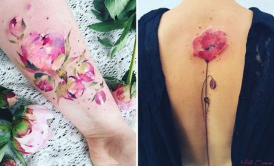 Breathtaking Watercolor Flower Tattoos