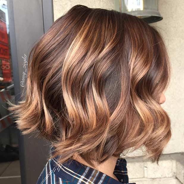Cinnamon Gold Bob Haircut