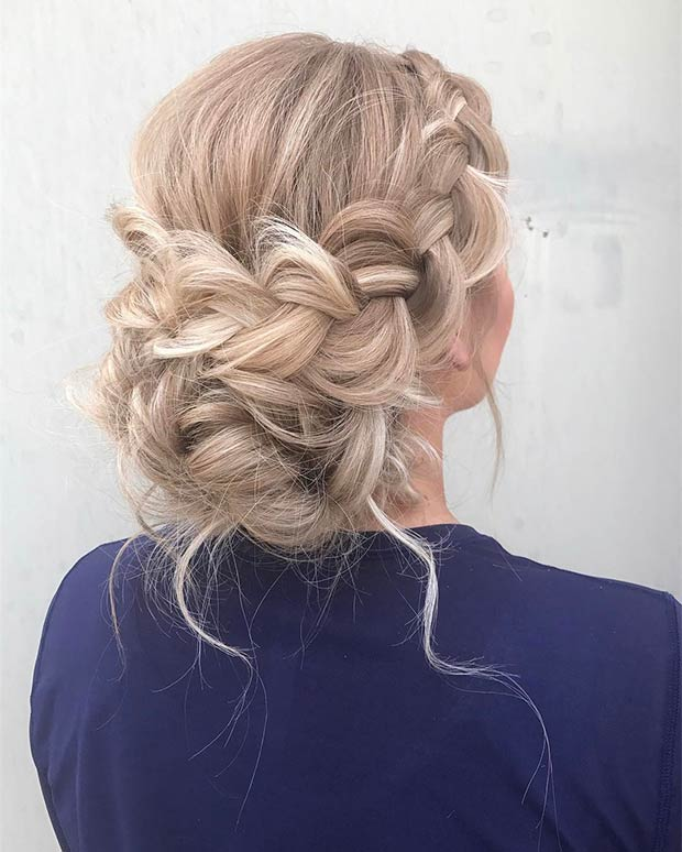 Elegant Braided Updo or Long Blonde Hair