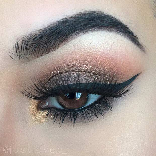 Classy Brown Smokey Eye for Prom