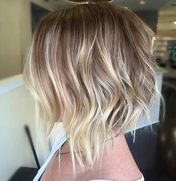 Short Choppy Blonde Bob Haircut