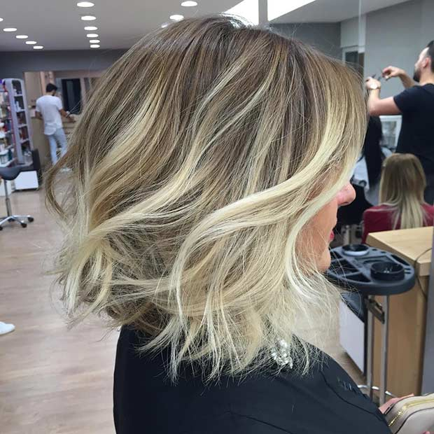 Bob Haircut with Icy Blonde Highlights