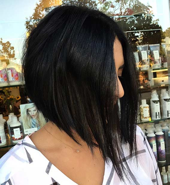 Straight Inverted Bob Haircut