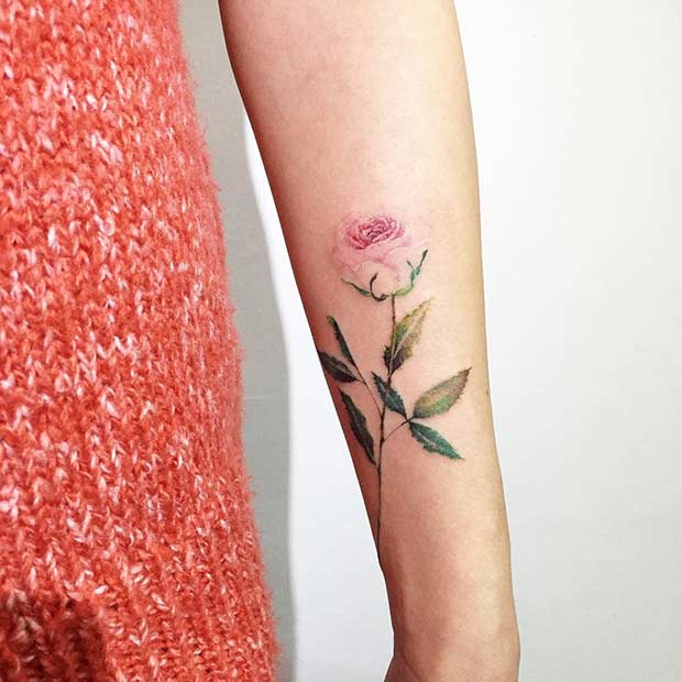 27 Breathtaking Watercolor Flower Tattoos Stayglam Page 2