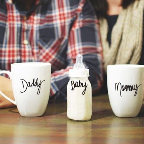 Simple Mug Pregnancy Announcement for 1st Pregnancy