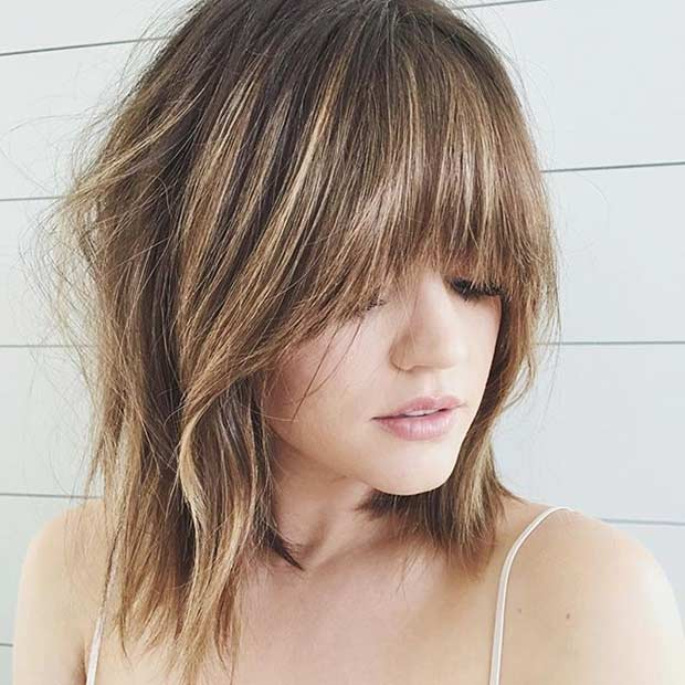 Bronde Bob Haircut with Bangs