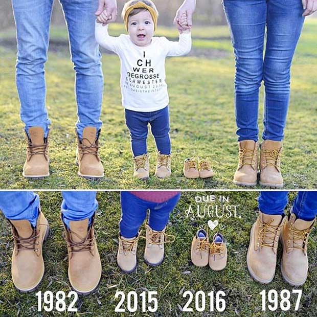 Cute Pregnancy Announcement with a Toddler