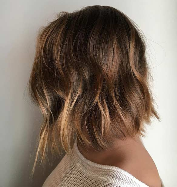 Choppy Light Brown Bob Haircut