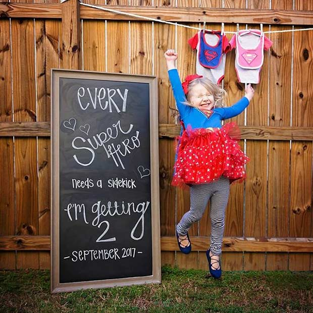 Big Sister Chalkboard Pregnancy Announcement