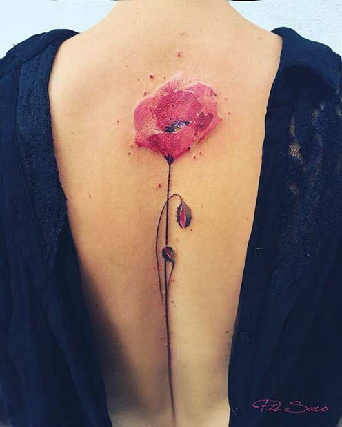 3e9d6d648 47 Breathtaking Watercolor Flower Tattoos | Page 2 of 5 | StayGlam