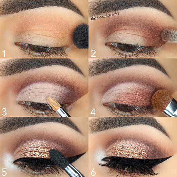 Easy Glitter Step by Step Makeup Tutorial