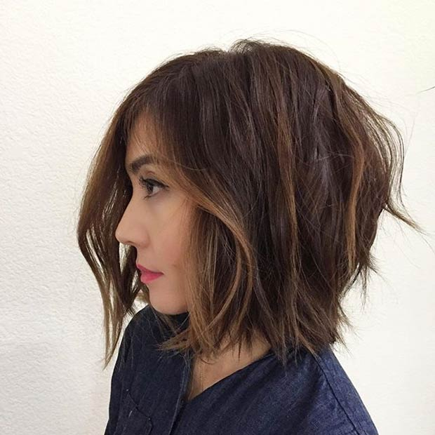 Textured Bob Haircut for Brunettes