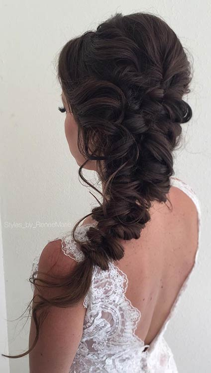 Elegant Boho Hairstyle for Prom
