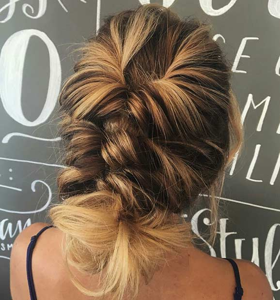 Twisted Updo Idea for Thin Hair