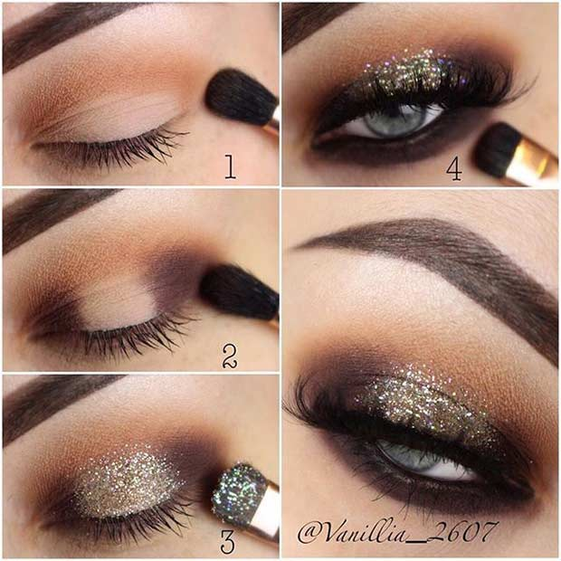 Party Step by Step Makeup Tutorial for Eyes