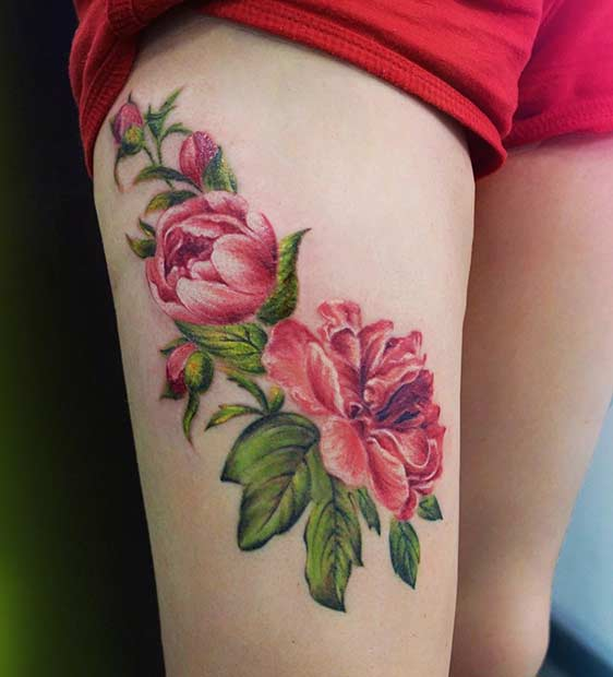 23 Trendy Hip Tattoos That Are Actually Badass: 25 Badass Thigh Tattoo Ideas For Women