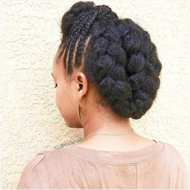 Braided Formal Updo for Natural Hair