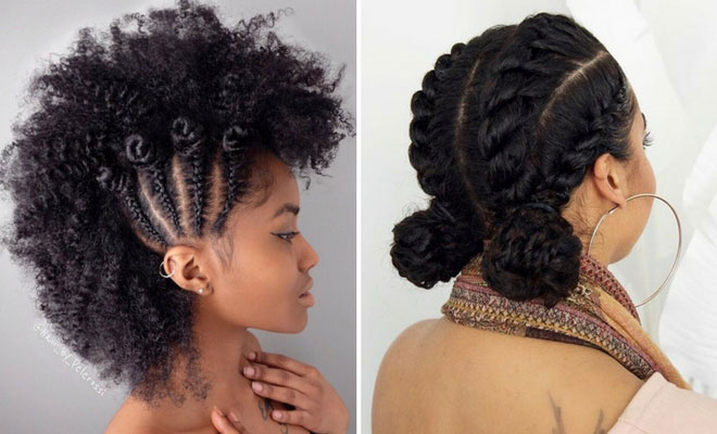 Braided Updo Styles For Natural Hair